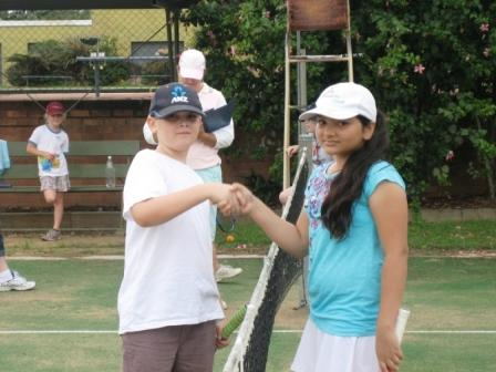 Tom Quinn & Maria Zia at Tennis Hot Shots Challenge day 20110403